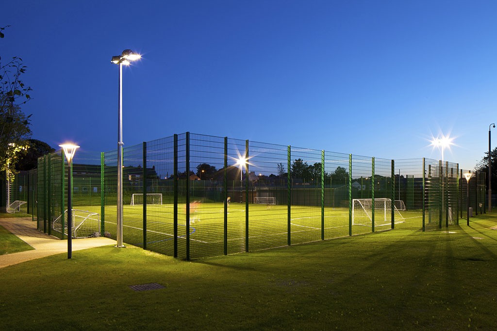 Floodlit football pitch, Houghton Primary Care Centre, Houghton-le-Spring