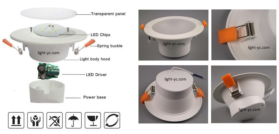 all smd led downlight
