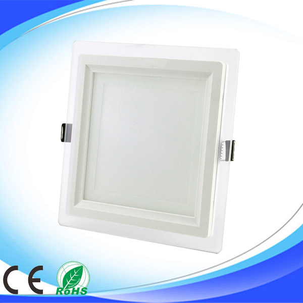 square galss led downlight