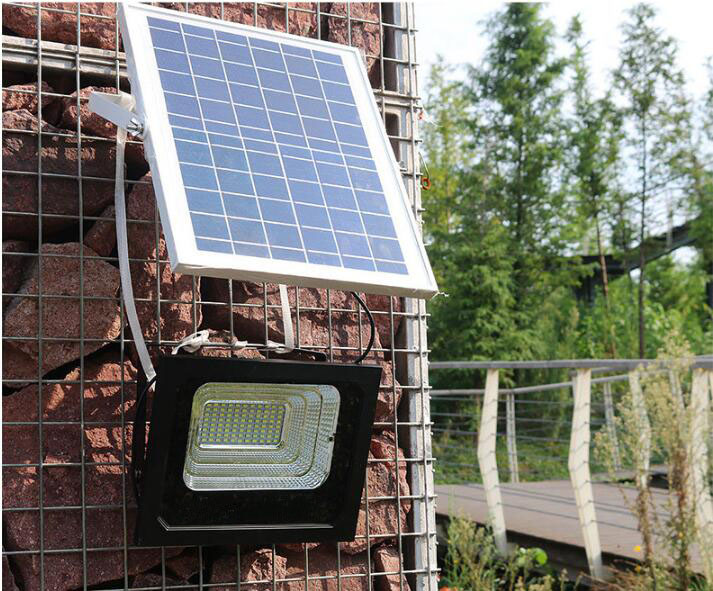 solar powered led dusk to dawn floodlight